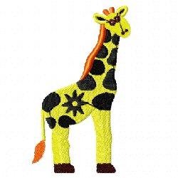 Broderie fil girafe 1