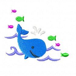 Broderie fil baleine mini poissons 1