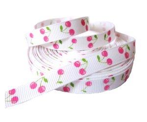 Cerises rose / fond blanc