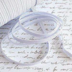 Elastique tissé 6 mm blanc au mètre