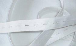 Elastique boutonnière 18 mm blanc au mètre