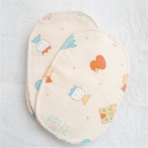 Le stock 5 Lingettes lavables coeur micro polaire blanc écru