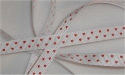 Coeur rouge / fond blanc