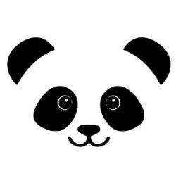 Appliqué Flex tête panda 1 / 10 cm