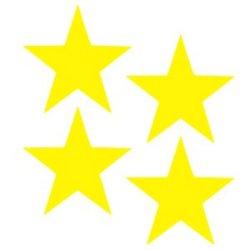 Flex thermocollant 4 étoiles pleines 3.5x3.5 cm