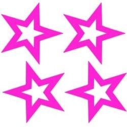 Flex thermocollant 4 étoiles vides 3.5x3.5 cm