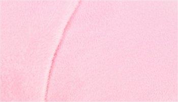 Tissu doudou pilou rose clair