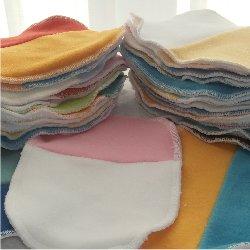 Pack 5 lingettes lavables Patchwork bambou/micropolaire
