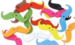 Bouton moustache bois à coudre (lot5) 3.5 cm