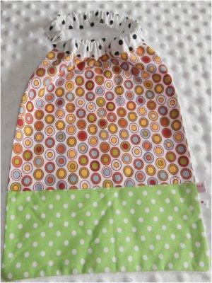 Serviette élastiquée bébé/enfant pois verts couleurs