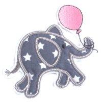 Appliqué broderie tissu coton polaire ~ 10 cm / Eléphant 1