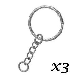 Porte-clés anneau rond 5.3 cm (lot3)