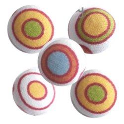 Bouton tissu à coudre Pois REF1
