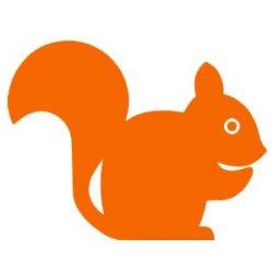 Appliqué Flex écureuil 9 cm