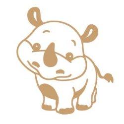 Appliqué Flex rhinocéros 10x9 cm