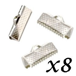 Fermoirs grippe 13x8 mm (Lot de 8)