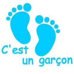Appliqué Flex pieds bébé c'est un garçon 10 cm