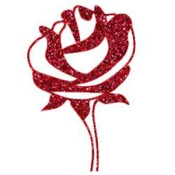 Appliqué Flex rose 1 / 10 cm