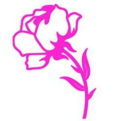Appliqué Flex rose 2 / 10 cm