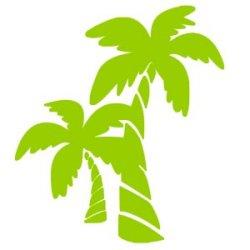 Appliqué Flex palmier double / 10 cm