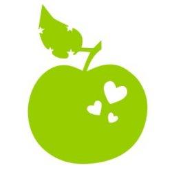 Appliqué Flex pomme coeur étoile / 10 cm
