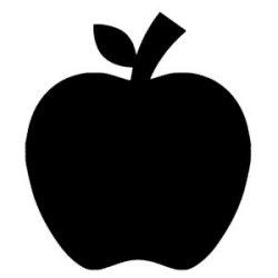 Appliqué Flex pomme / 10 cm