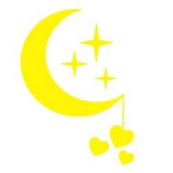 Appliqué Flex lune étoile coeur fil / 10 cm