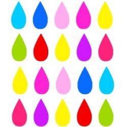 Appliqué Flex 20 gouttes multi couleurs /2 cm