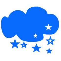 Appliqué Flex nuage étoile / 10 cm