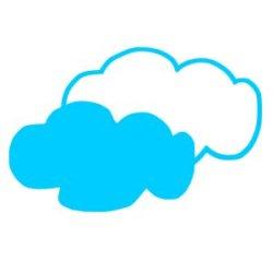 Appliqué Flex nuage double / 10 cm