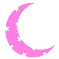 Appliqué Flex lune croquée étoile / 10 cm