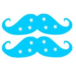Appliqué Flex moustache étoile lot de 2 / 10 cm