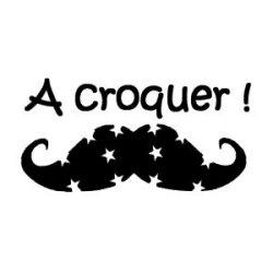 Appliqué Flex moustache a croquer / 13 cm