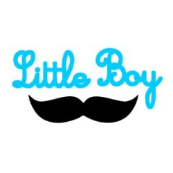 Appliqué Flex moustache little boy / 10 et 5 cm