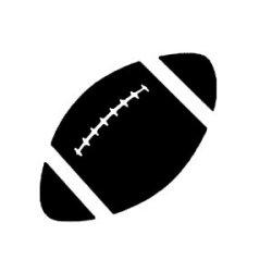 Appliqué Flex ballon rugby / 10 cm