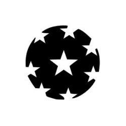 Appliqué Flex ballon foot étoile / 9.5 cm