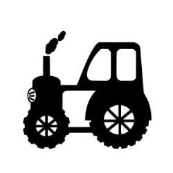 Appliqué Flex véhicule tracteur 1 / 12 cm