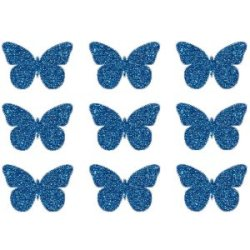 Appliqué Flex papillon mini lot de 9 / 3 cm