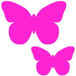 Appliqué Flex papillon simple lot de 2 / 9 et 4 cm