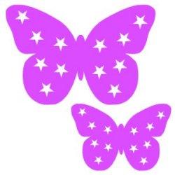 Appliqué Flex papillon étoile lot de 2 / 9 et 4 cm