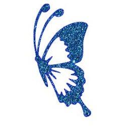 Appliqué Flex papillon profil / 10 cm
