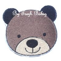 Broderie fil tête ours 1
