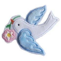Appliqué broderie tissu coton polaire ~ 10 cm / oiseau 1