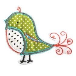 Appliqué broderie coton ~ 10 cm / oiseau 2