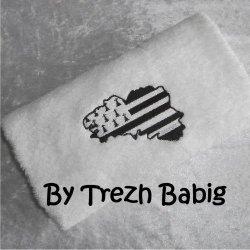 Serviette de bain Brodée Tour Eiffel Rose pois