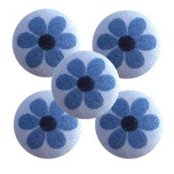 Bouton tissu à coudre Fleurs REF1
