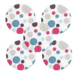 Bouton tissu à coudre Pois REF9