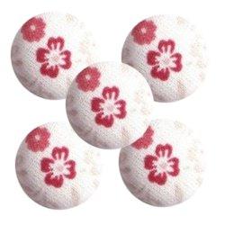Bouton tissu à coudre Fleurs REF8