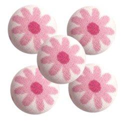 Bouton tissu à coudre Fleurs REF9