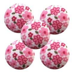 Bouton tissu à coudre Fleurs REF10